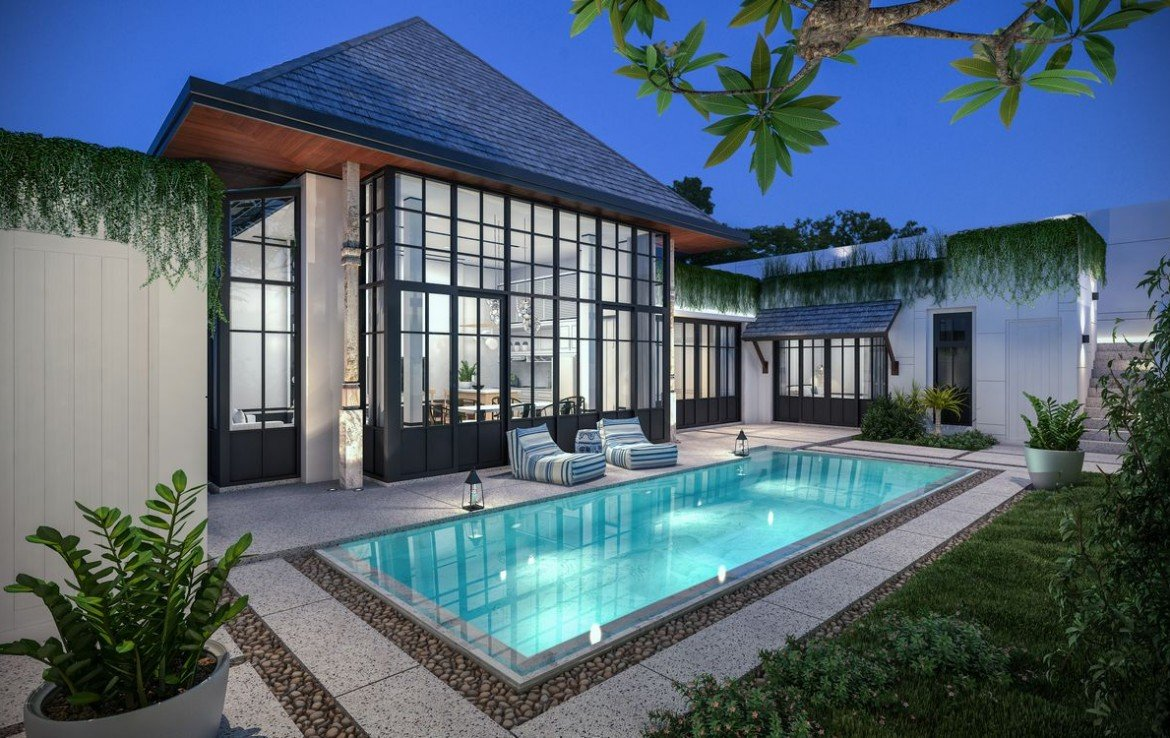 This 3 bedroom / 3 bathroom Villa for sale is located in Bangtao on Phuket